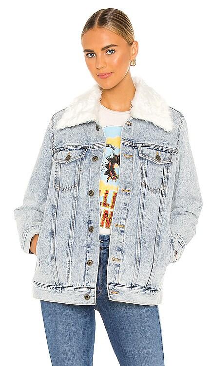 Durado Faux Fur Collar Denim Jacket Show Me Your Mumu $178 BEST SELLER