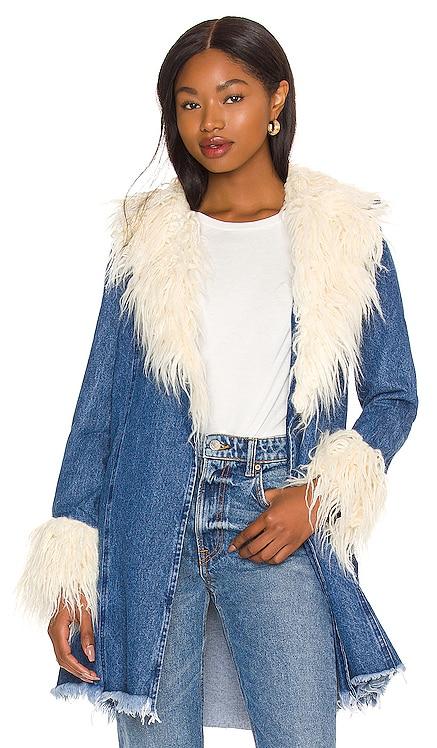 Penny Lane Faux Fur Coat Show Me Your Mumu $198 NEW