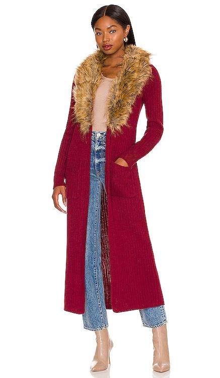 Lombardi Faux Fur Long Cardigan Show Me Your Mumu $174 NEW