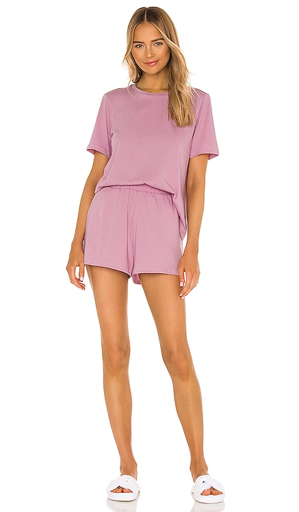 Cady Tee and Short Set Skin $98 NEW