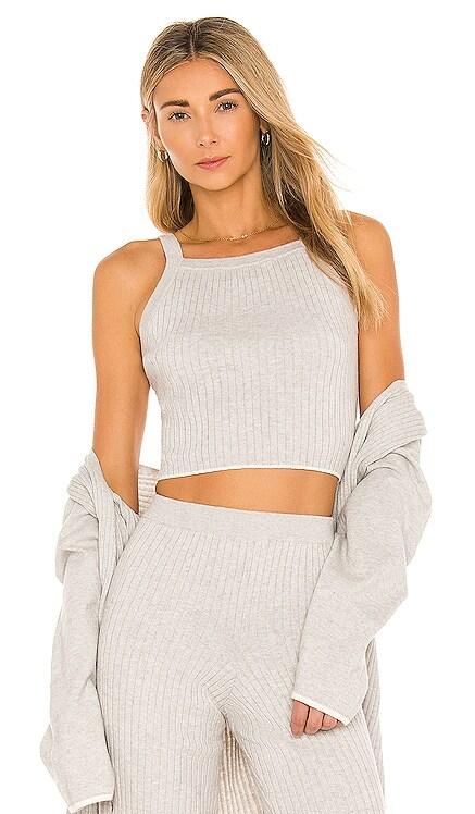 Mariya Cotton Cashmere Crop Top Skin $132 NEW