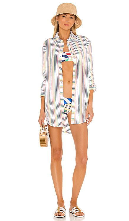 The Oxford Tunic Solid & Striped $125