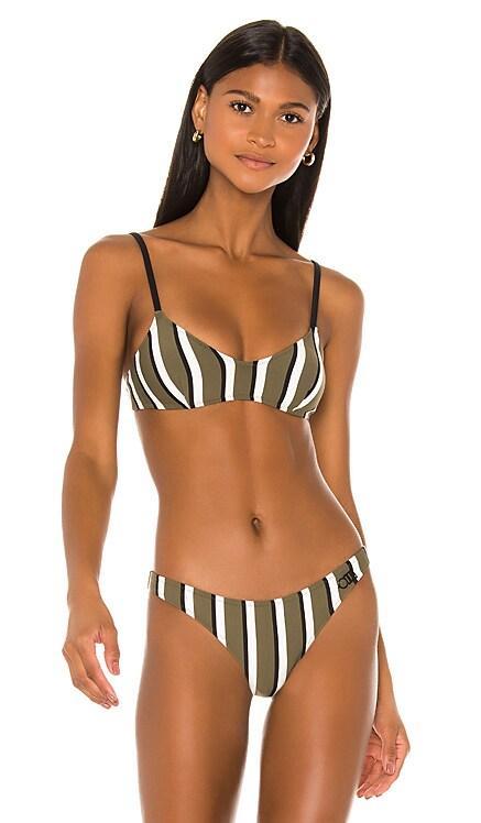 Rachel Bikini Top Solid & Striped $88