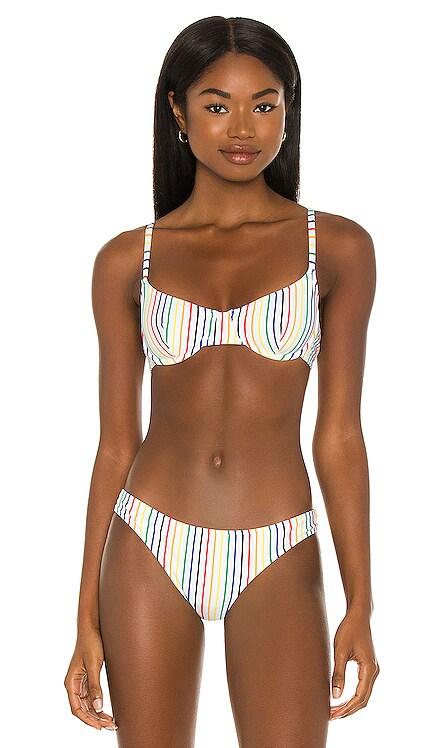 The Eva Bikini Top Solid & Striped $88 NEW
