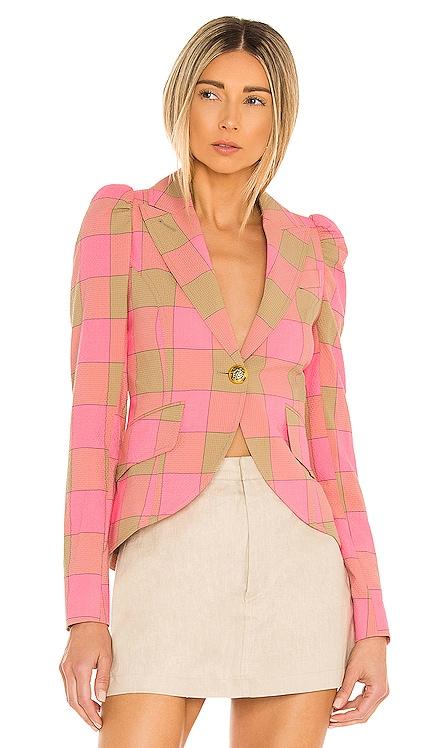 Pouf Sleeve One Button Blazer Smythe $695 NEW