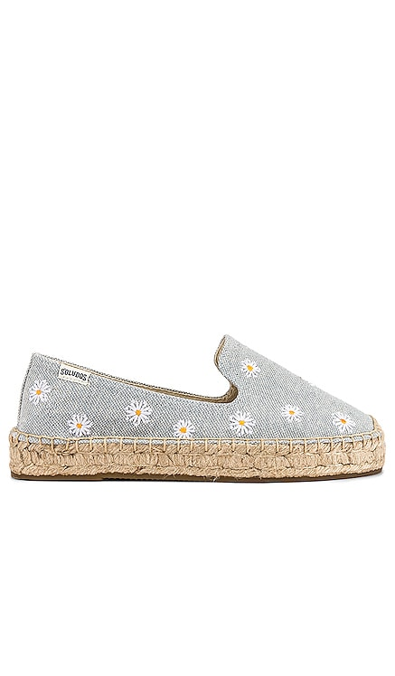 Daisies Embroidered Espadrille Soludos $85 NEW ARRIVAL