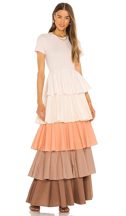 Alexandra Tiered Ruffle Dress Something Navy $185 NEW