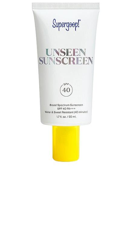 UNSEEN SUNSCREEN SPF 40 防曬霜 Supergoop! $34 暢銷品