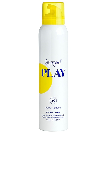 PLAY Body Mousse SPF 50 6.5oz. Supergoop! $34