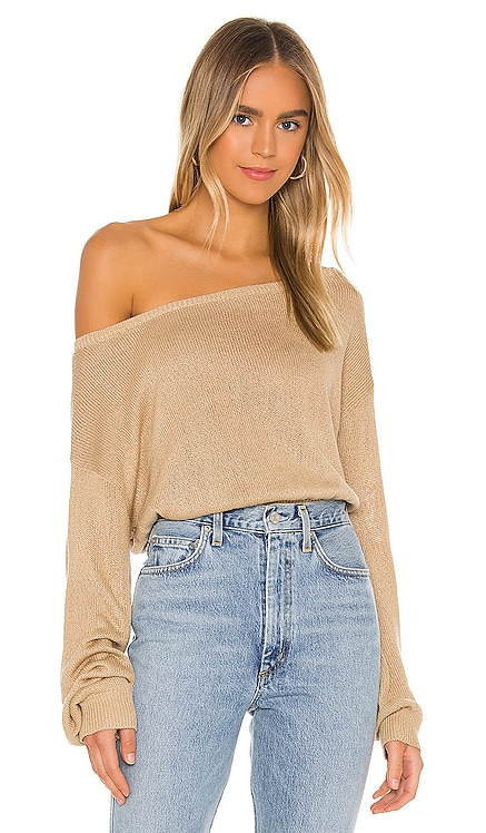 Jennifer Off Shoulder Sweater Song of Style $145 NEW