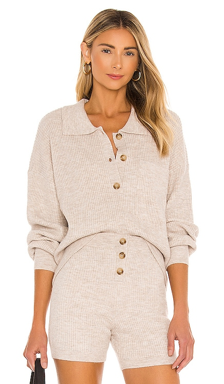Amanda Oversized Knit Polo Song of Style $175 BEST SELLER