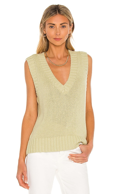 Domino Knit Vest Song of Style $158 NEW