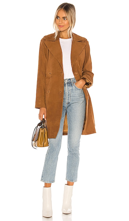 Song Leather Trench Coat Song of Style $352