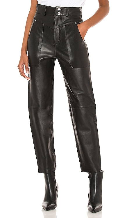 Seana Leather Pant Song of Style $498 NEW