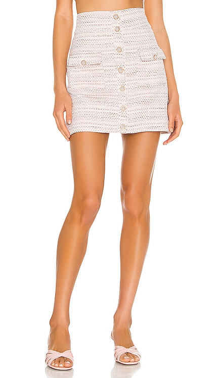 Lyric Mini Skirt Song of Style $158