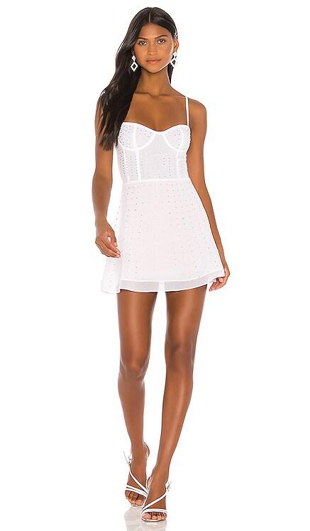 x Draya Michele Carina Sheer Rhinestone Dress superdown $78