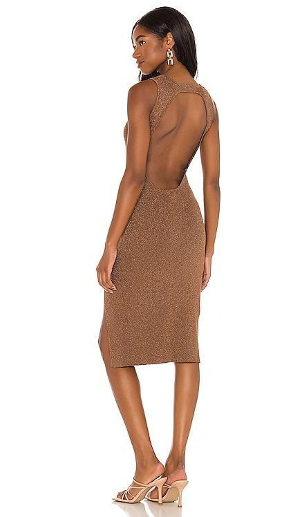 Lillie Midi Dress superdown $68 NEW
