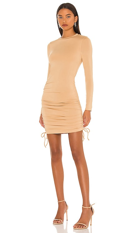 Lindsey Ruched Side Dress superdown $66 NEW