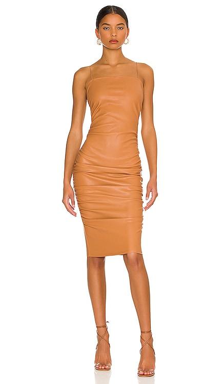 Nicola Ruched Midi Dress superdown $82 NEW