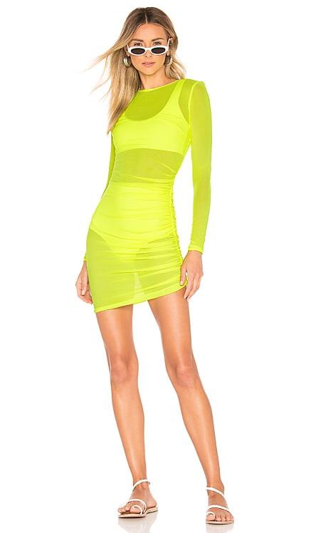 Angela Ruched Mesh Dress superdown $52 BEST SELLER