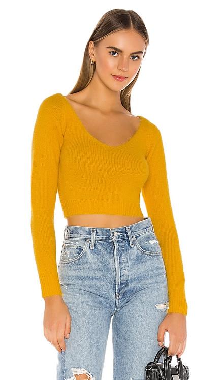 Kendra Crop Sweater Top superdown $16