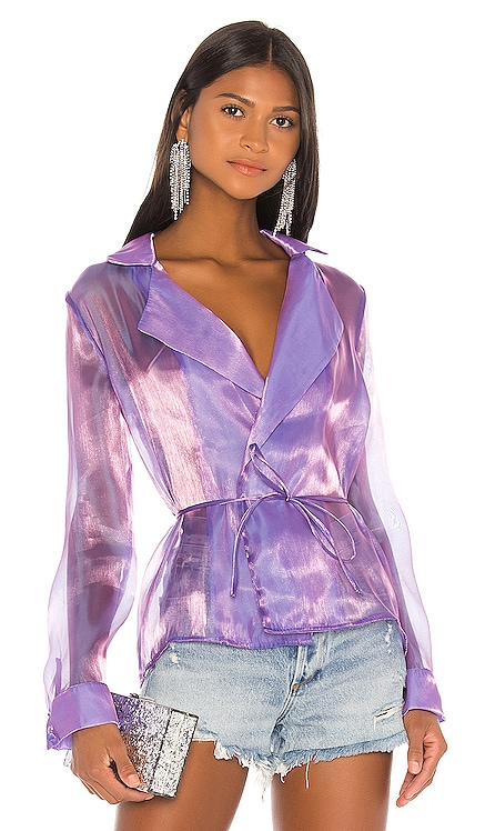 Remi Organza Tie Jacket superdown $70
