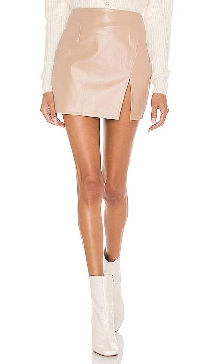 Trinity Faux Leather Skirt superdown $56