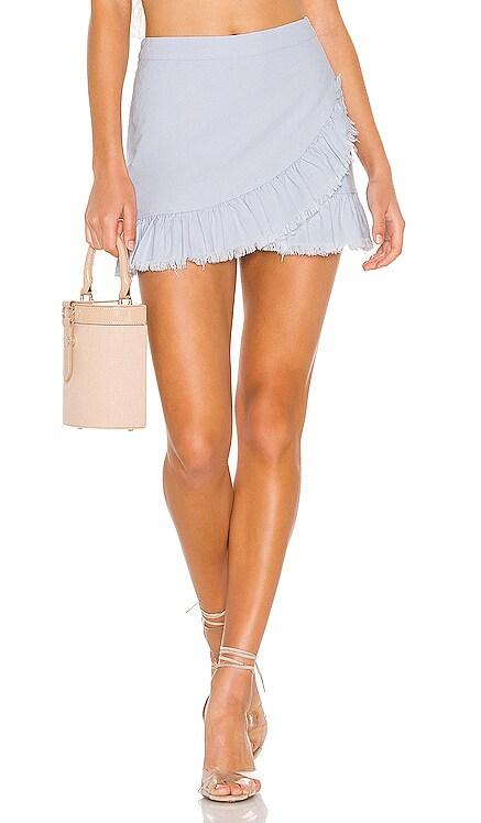 Nola Ruffle Wrap Skirt superdown $66 BEST SELLER