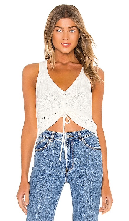 Khloe Ruched Knit Top superdown $44 NEW ARRIVAL