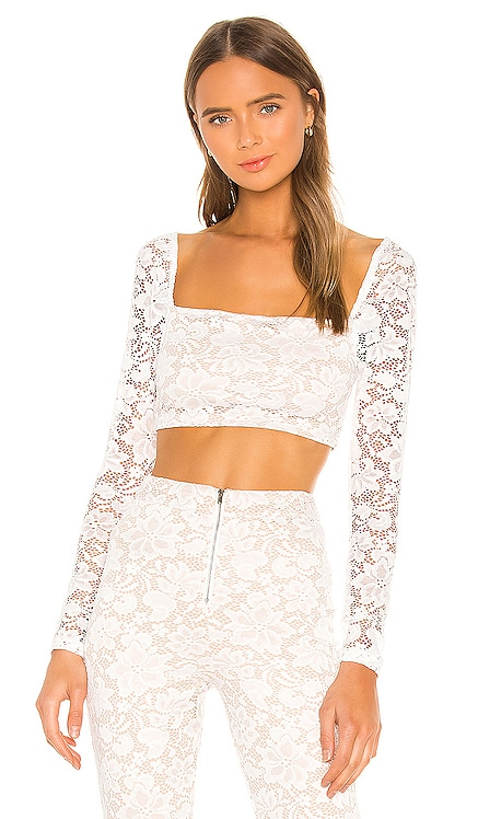 Justene Sheer Lace Top superdown $50 NEW ARRIVAL