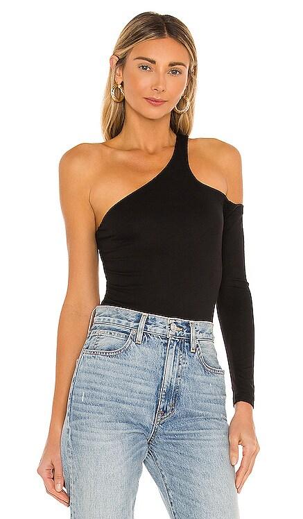 Brianna One Sleeve Bodysuit superdown $58 BEST SELLER