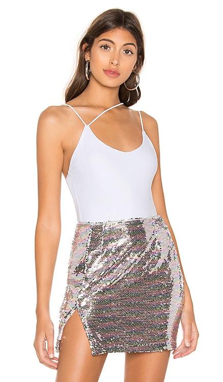 Janelle Asymmetrical Strappy Bodysuit superdown $26