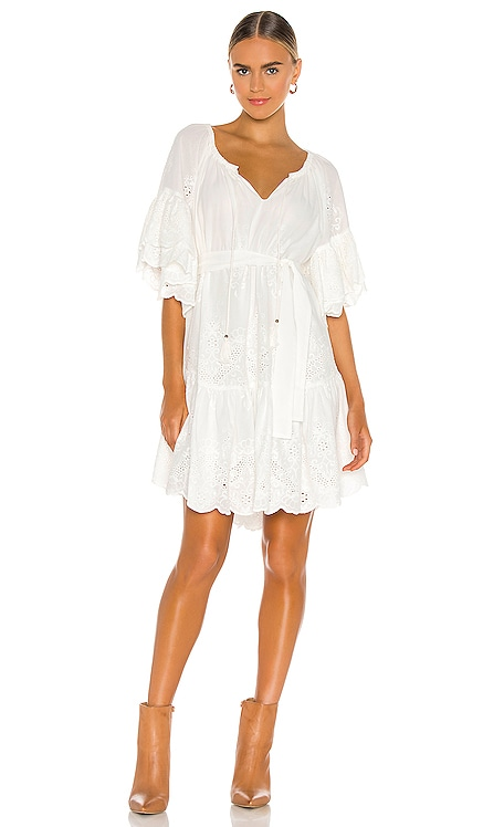 Broderie Anglaise Frill Smock Dress Spell & The Gypsy Collective $269 NEW