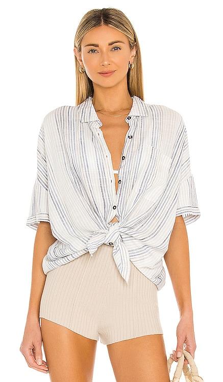 Pier Stripe Short Sleeve Top Splendid $118 NEW
