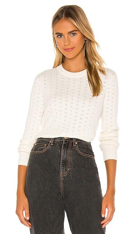 Nikki Pointelle Crop Sweater Spiritual Gangster $98 BEST SELLER