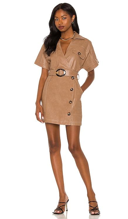 Nicole Vegan Leather Mini Dress Suboo $270 BEST SELLER
