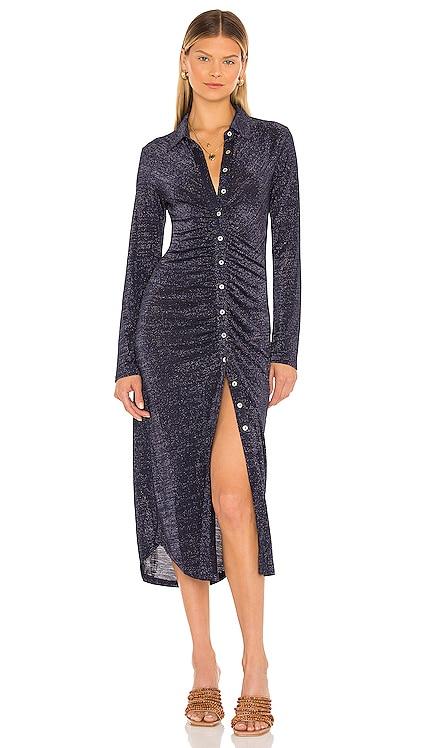 Asha Lurex Shirt Dress Suboo $250 NEW