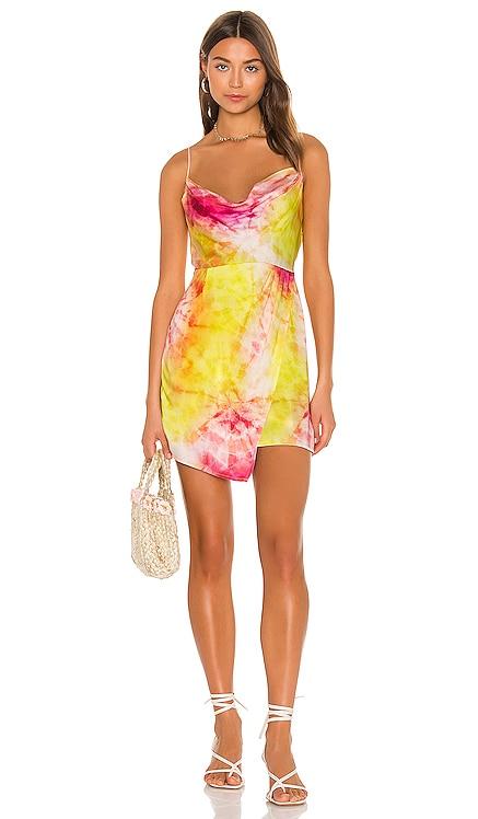 Cowl Wrap Mini Dress Sun Becomes Her $185