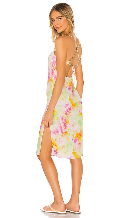 Willow Midi Dress Sun Becomes Her $242 NEW