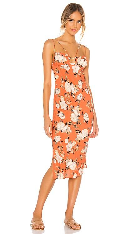 Dahlia Corset Midi Dress Sun Becomes Her $242 NEW