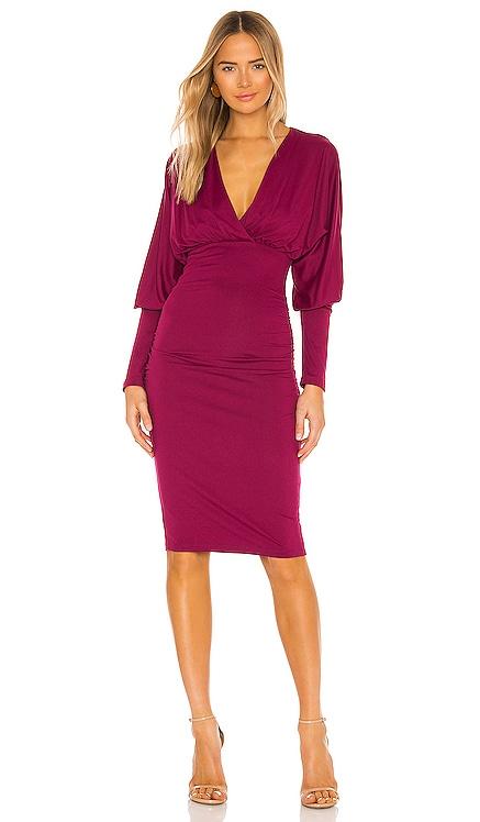 Wrap Dolman Ruched Dress Susana Monaco $178