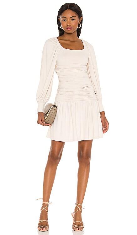 Square Neck Poet Sleeve Gathered Dress Susana Monaco $178