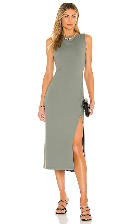 Crew Slit Sleeveless Dress Susana Monaco $178 BEST SELLER