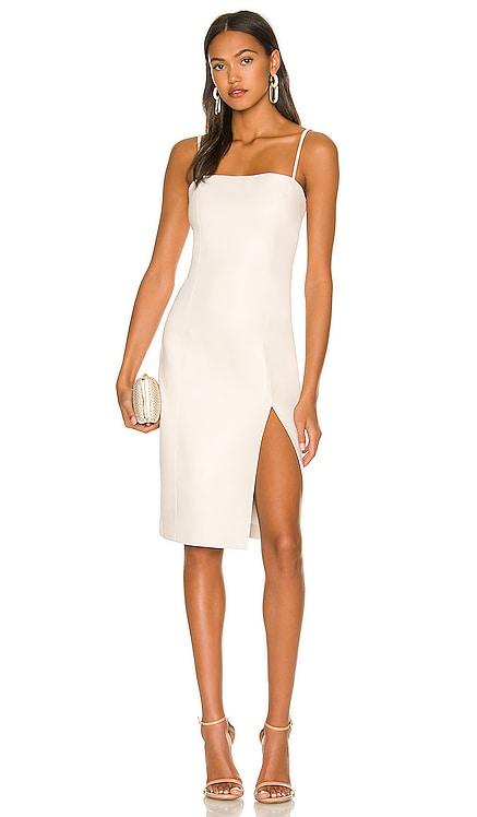 Faux Leather Thin Strap Square Neck Dress Susana Monaco $188 NEW