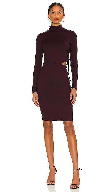 Mock String Open Side Midi Dress Susana Monaco $188 NEW