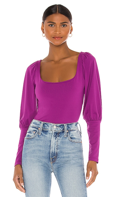 Gathered Mutton Sleeve Top Susana Monaco $148