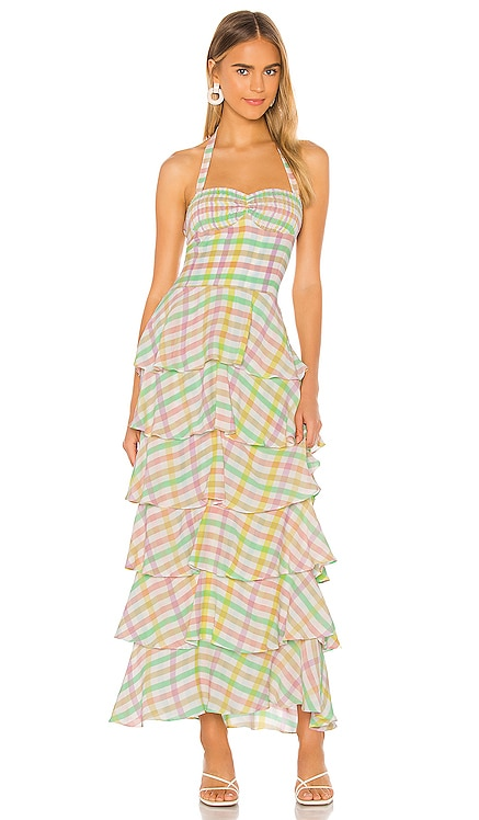 Ruffle Maxi Dress SWF $379 NEW
