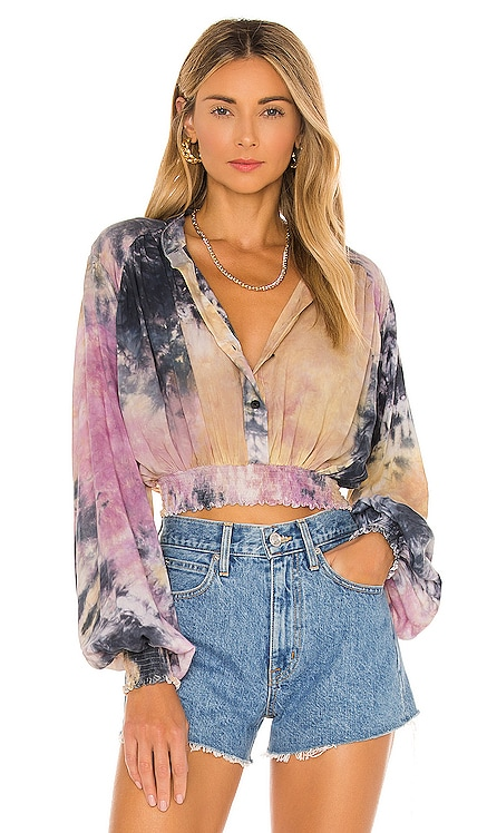 Billow Sleeve Crop Top SWF $269 NEW