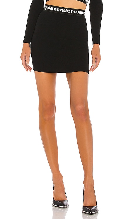 Bodycon Bi Layer Mini Skirt T by Alexander Wang $350 NEW ARRIVAL