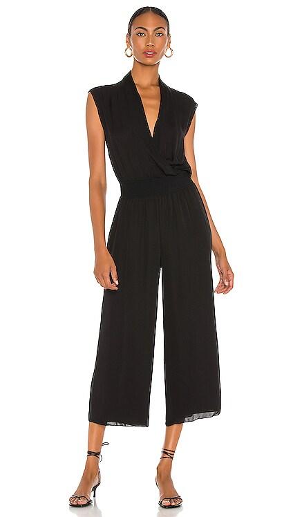 Draped Combo Silk Jumpsuit Theory $395